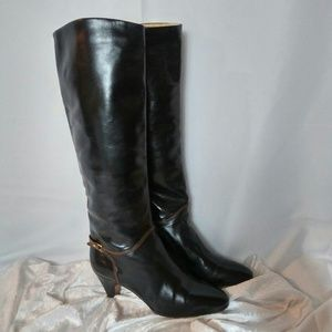 Vintage BALLY Black Leather Boots from the '70's